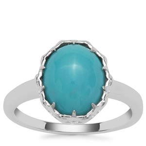 Sleeping Beauty Turquoise Ring in Sterling Silver 3.07cts