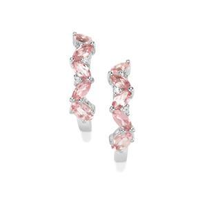 Kaffe Tourmaline & White Zircon Sterling Silver Earrings ATGW 1.42cts