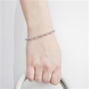 Zambezia Morganite & White Topaz Sterling Silver Bracelet ATGW 5.94cts