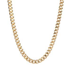 "20"" Gold Tone Sterling Silver Classico Curb Chain 31.50g"
