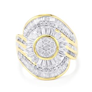 Diamond Ring  in 10k Gold 1.20cts
