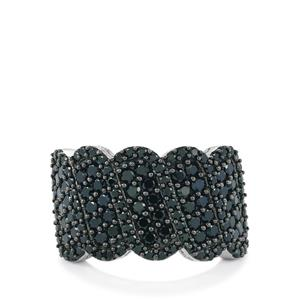 2.27ct Black Spinel Sterling Silver Silhouette Ring