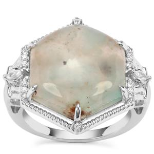 Aquaprase™ Ring with White Zircon in Sterling Silver 10.12cts