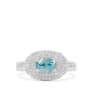 1.65ct Ratanakiri Blue & White Zircon Sterling Silver Ring