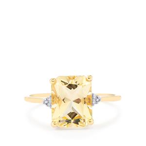 Serenite Ring with Diamond in 10k Gold 2.95cts