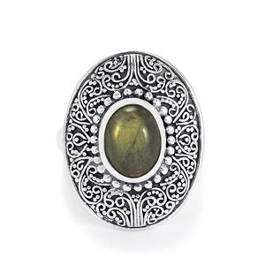 2.50ct Labradorite Sterling Silver Ring