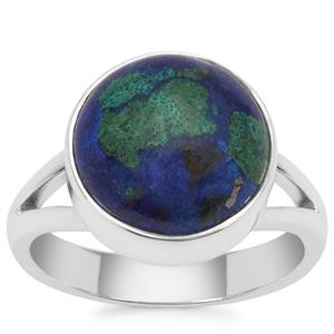 Azure Malachite Ring in Sterling Silver 6.08cts
