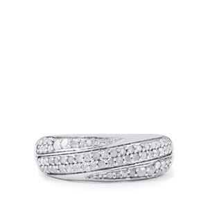 Diamond Ring in Sterling Silver 0.50ct
