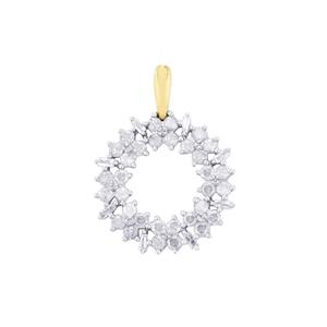 Diamond Pendant in 10K Gold 1cts