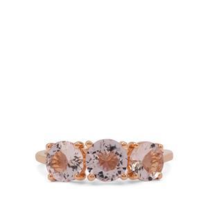 Nigerian Morganite Ring in 9K Rose Gold 2.05cts