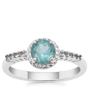 Madagascan Blue Apatite Ring in Sterling Silver 0.98ct