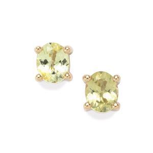 0.79ct Brazilian Chrysoberyl 10K Gold Earrings