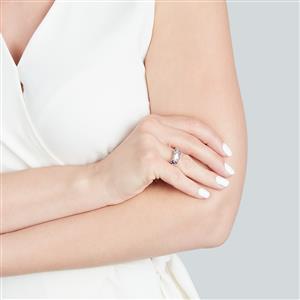 Bi-Color Tanzanite Ring with Diamond in 10k Gold 1.78ct