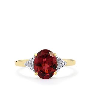 Umbalite & Diamond 10K Gold Ring ATGW 2.47cts