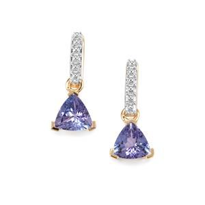 1.27ct AA Tanzanite 9K Gold Earrings
