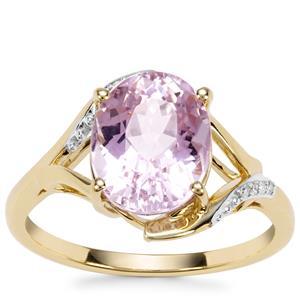 Kolum Kunzite Ring with Diamond in 9K Gold 3.59cts
