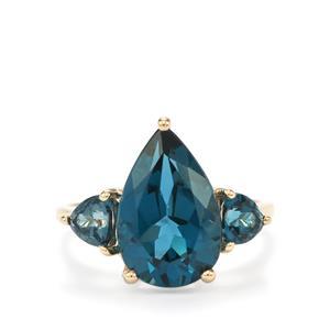6.20ct Marambaia London Blue Topaz 10K Gold Ring