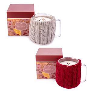Mulled Wine Mug Candle with Garnet Gemstones ATGW 10cts