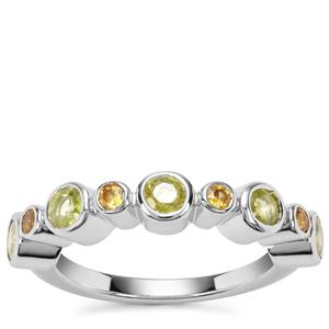 Ambilobe Sphene Ring with Morafeno Sphene in Sterling Silver 1.40cts