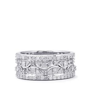 3/4ct Diamond Sterling Silver Duet Rings