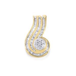 1/3ct Diamond 9K Gold Pendant