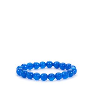 Blue Agate Stretchable Bracelet 131cts