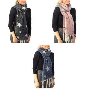 Destello feel like a star scarf - Star Design - .01=BLUE / .02=GREY / .03=BLACK