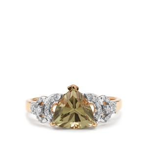 Csarite® Ring with Diamond in 18K Gold 2.35cts