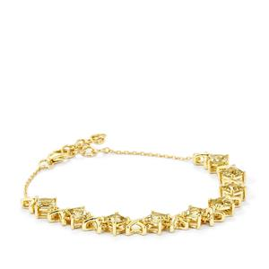 3.54ct Csarite® 9K Gold Bracelet