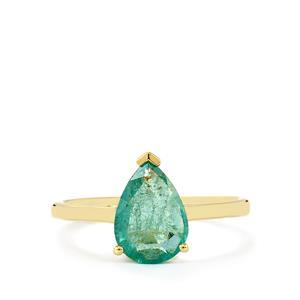 1.42ct Zambian Emerald 9K Gold Ring