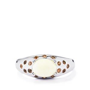 Coober Pedy Opal Ring with Gouveia Andalusite in Sterling Silver 1.11cts