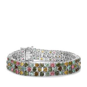 Rainbow Tourmaline Bracelet in Sterling Silver 26.72cts