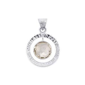 9ct Optic Quartz Sterling Silver Aryonna Pendant