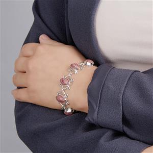 Rhodochrosite Bracelet in Sterling Silver 44cts
