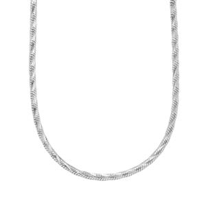 "20"" Sterling Silver Tempo Diamond Cut Snake Chain 4.43g"