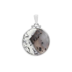 Dendrite Pendant in Sterling Silver 16.40cts