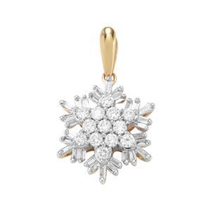 Diamond Pendant in 18K Gold 0.51ct