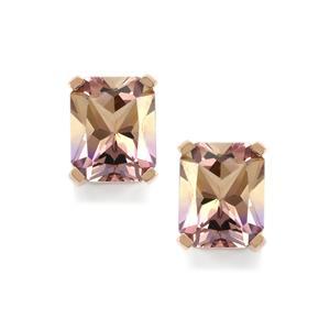 Anahi Ametrine Earrings in 9K Rose Gold 5.47cts
