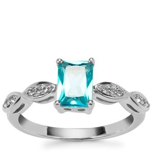 Batalha Topaz Ring with White Topaz in Sterling Silver 1.27cts