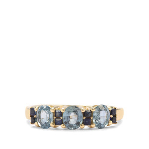 1.55ct Thai & Ceylon Blue Sapphire 9K Gold Ring