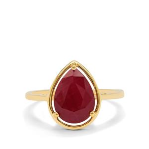 Burmese Ruby Ring in 9K Gold 3.15cts