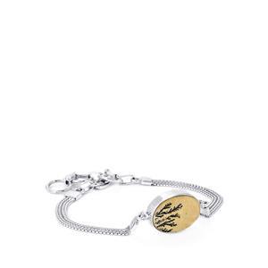10ct Manganese Dendrite Sterling Silver Aryonna Bracelet