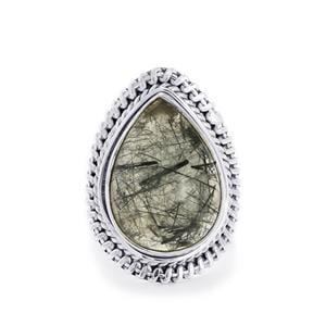 17ct Tourmalinated Quartz Sterling Silver Aryonna Ring