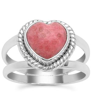 Norwegian Thulite Ring in Sterling Silver 3.14cts