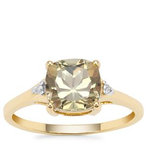 Csarite® Ring with Diamond in 9K Gold 2.44cts