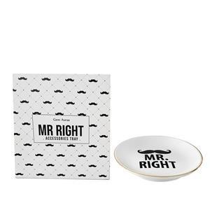 Gem Auras 'Mr Right' Ceramic Tray
