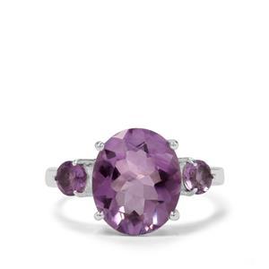 5ct Bahia Amethyst Sterling Silver Ring