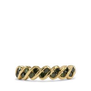 1/2ct Green Diamond 9K Gold Ring