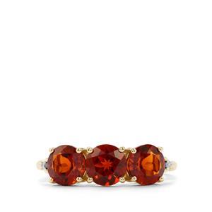 Madeira Citrine & Diamond 10K Gold Ring ATGW 2.12cts