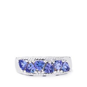 1.34ct Tanzanite Sterling Silver Ring